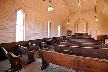 Interior, Methodist Church, ghost town of Bodie, a former gold mining town, Bodie State Historic Park, California, United States of America, USA