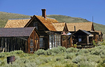 Donnelly and Seiler Houses, ghost town of Bodie, a former gold mining town, Bodie State Historic Park, California, United States of America, USA