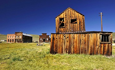 Post Office, Miner's Union Hall, home of the miners union, former hotel, ghost town of Bodie, a former gold mining town, Bodie State Historic Park, California, United States of America, USA