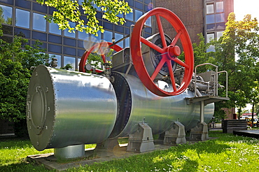 Locomobile boiler by the company Wolf in Magdeburg, about 85 hp, Munich, Bavaria, Germany, Europe