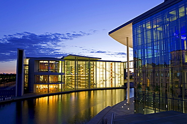 Elisabeth-Lueders-Haus building and the Spree River, government quarter, House of Representatives, Mitte district, Berlin, Germany, Europe