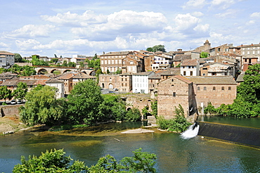 Gaillac, French Way of St. James, Gaillac, river Tarn, Departement Tarn, Midi-Pyrenees, France, Europe