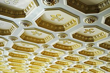 Ornate ceiling panels, Romanian Athenaeum, philharmonic hall, concert hall, Bucharest, Romania, Eastern Europe, Europe