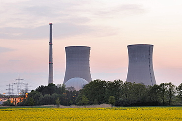 Grafenrheinfeld Nuclear Power Station, out of service, Grafenrheinfeld, Lower Franconia, Franconia, Bavaria, Germany, Europe