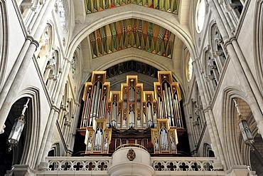 Organ, cathedral Santa Maria la Real de La Almudena or Almudena Cathedral, Madrid, Spain, Europe
