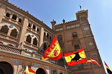 Entrance, facade, Las Ventas bullring, Plaza de Toros Las Ventas, Madrid, Spain, Europe