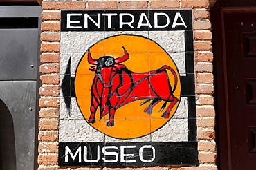 Entrada Museo museum entrance, bullring Las Ventas, Madrid, Spain, Europe