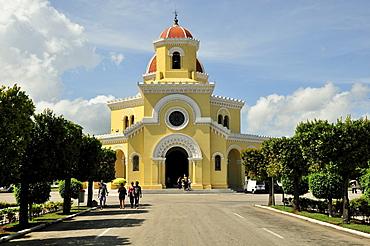 Chapel on Colon Cemetery, Cementerio Cristobal Colon, named after Christopher Columbus, Havana, Cuba, Caribbean