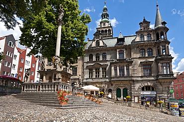 Town hall, Klodzko, Glatz, Lower Silesia, Lesser Poland or Malopolska, Poland, Europe, PublicGround