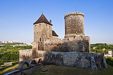 B&dzin Castle, B&dzin, Silesia, Poland, Europe