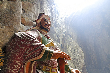 Guardian figure, patron deity, Huyen Khong cave, Marble Mountains or Ngu Hanh Son, Thuy Son, Da Nang, Vietnam, Asia