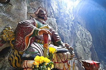 Guardian figure, patron deity, Huyen Khong Grotto, Marble Mountains, Ngu Hanh Son, Thuy Son, Da Nang, Vietnam, Asia