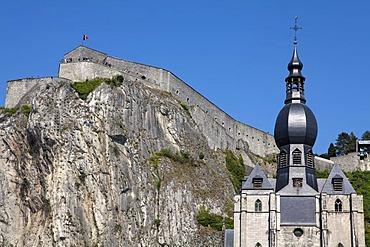 Collegiate Church of Notre-Dame and Citadel, Dinant, Namur, Wallonia, Belgium, Europe