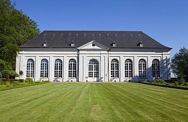 Orangery, Chateau de Seneffe castle, Seneffe, Hainaut province, Wallonia, Belgium, Europe