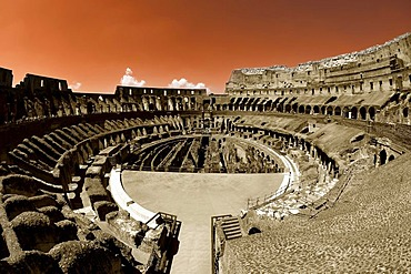 Colosseum or Coliseum, Rom, Lazio, Italy, Europe