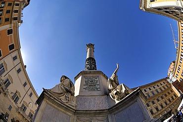 Colonna dell 'Immacolata in Piazza Mignanelli, Rome, Lazio, Italy, Europe