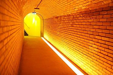 Light at the end of a tunnel, Loisium World of Wine, Langenlois, Kamptal, Wachau, Lower Austria, Austria, Europe