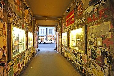 Passageway to the courtyard, Haus Schwarzenberg culture club, Hackescher Market, Cafe Central, graffiti, Mitte district, Berlin, Germany, Europe