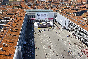 Aerial view of Piazza San Marco, Venice, Italy, Europe