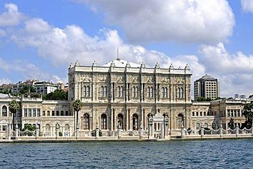 Dolmabahce Sarayi or Dolmabahce Palace, Sultan's Palace, Besiktas, Bosphorus, Bogazici, European bank of Istanbul, Turkey