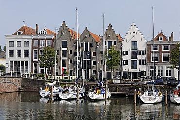 Historic warehouses at Kinderdijk, Middelburg, Walcheren, Zeeland, Netherlands, Europe