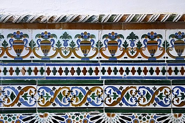 Ceramic tiles, Casa Don Bosco, Ronda, Malaga Province, Andalusia, Spain, Europe