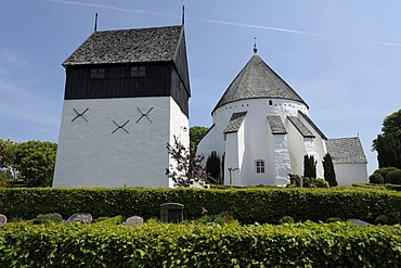 Round church, Bornholm, Denmark, Europe