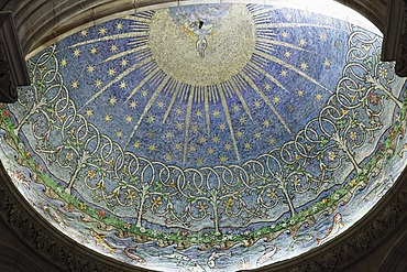 Mosaic The Creation in the baptistery, St. Anne's Cathedral, Belfast, Northern Ireland, Ireland, Great Britain, Europe