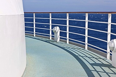 Aida Club Cruiser, railing, Corsica, France, Europe - Attention: Restricted right of use! Please ALWAYS contact the press office before publishing this picture: AIDA Cruises, Am Strande 3d, 18055 Rostock, Germany, +49 (0) 381 / 444-8021, public-relations@