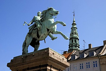 Hojbro Plads square with a monument of the town's founder, Bishop Absalon, Copenhagen, Denmark, Scandinavia, PublicGround