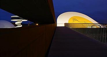 oscar Niemeyer International Cultural Centre, Centro de Cultura Internacional oscar Niemeyer, Aviles, Asturias, northern Spain, Europe