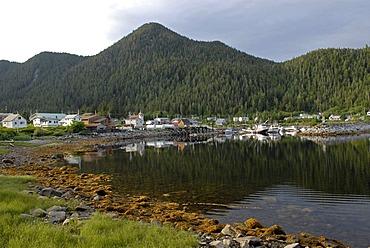 First Nation village of the Gitga'ata people, Tsimshian, Hartley Bay, British Columbia, Canada, North America