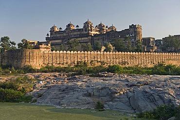 Raj Mahal Palast, Orchha, Madhya Pradesh, Nordindien, Indien, Asien
