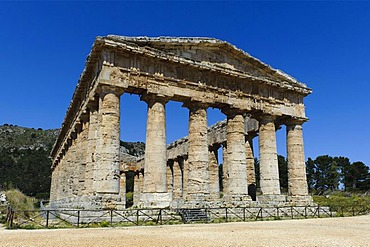 Temple of Segesta, Elymian temple, Sicily, Italy, Europe