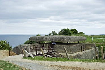 Atlantic Wall, D-Day, a German command post, fire control station at Longues sur Mer, Normandy, France, Europe