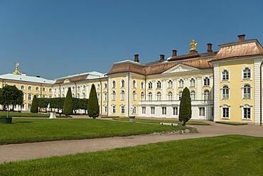 Peterhof Palace as seen from side of Upper garden, St. Petersburg, Russia