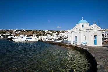 Orthodox church, Mykonos Town or Chora, Mykonos, Cyclades, Greece, Europe