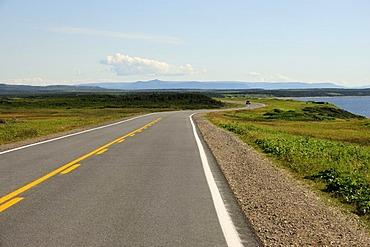 Coastal road in Gros Morne National Park, Newfoundland, Canada