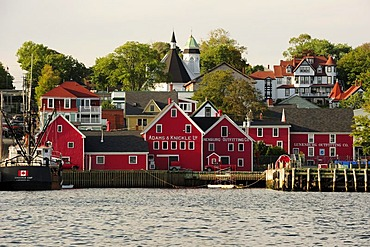 The harbor and the houses of Lunenburg, UNESCO World Heritags Site, Nova Scotia, Canada