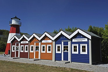Fisherman's cottages in the Open Air Museum, Helgoland, Schleswig-Holstein, Germany, Europe