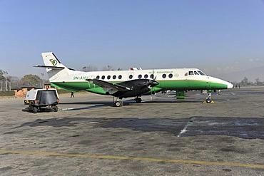 Yeti Airlines aircraft for a scenic flight, Kathmandu, Nepal, Asia