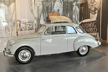 DKW 3=6 Sonderklasse F 91 saloon special, built in 1955, museum mobile, Erlebniswelt Audi, Audi, Ingolstadt, Bavaria, Germany, Europe