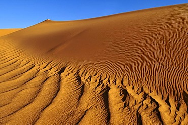Sand dunes of Moul N'Aga, Tadrart, Tassili n'Ajjer National Park, Unesco World Heritage Site, Algeria, Sahara, North Africa