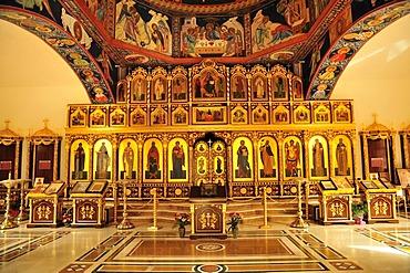 Russian Orthodox church of Arcangel San Miguel, near Altea, Costa Blanca, Spain, Europe