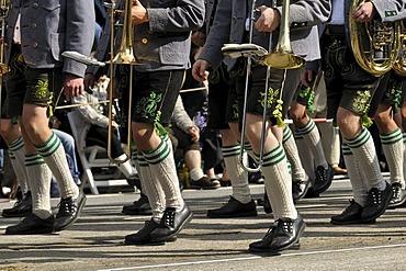 Gebirgstrachten music group, Traditional Costume and Riflemen's parade, opening of the Oktoberfest festival 2010, Munich, Upper Bavaria, Bavaria, Germany, Europe