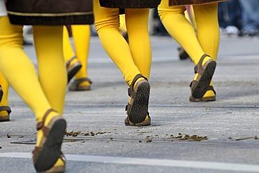 Kolping-Fanfarengruppe Taennesberg fanfare group, Upper Palatinate, Traditional Costume and Riflemen's parade, opening of the Oktoberfest festival 2010, Munich, Upper Bavaria, Bavaria, Germany, Europe