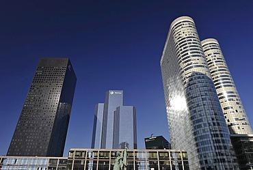 Skyscrapers, Tour Areva, former Tour Fiat, Tour Total Fina Elf and Coeur Defense, La Defense, Paris, France, Europe