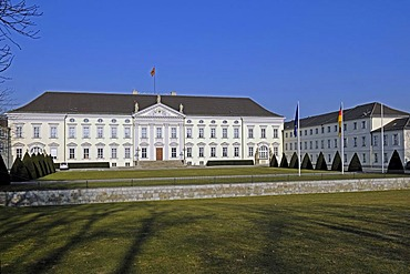 Schloss Bellevue Palace, seat of the German Federal President, Berlin, Germany, Europe