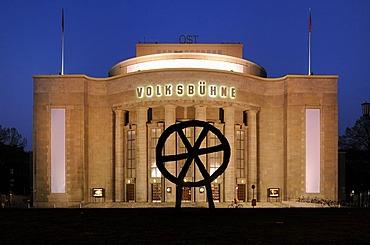 Volksbuehne am Rosa-Luxemburg-Platz theatre after its renovation in 2010, Rosa-Luxemburg-Platz square, Mitte district, Berlin, Germany, Europe