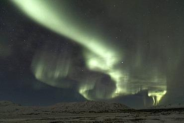 Northern Lights (Aurora borealis) at fiingvellir, Iceland, Europe